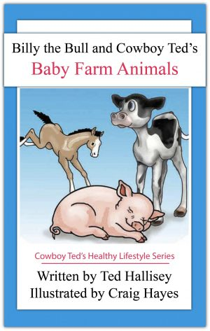 book cover for baby farm animals